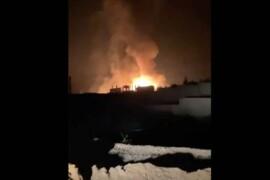 انفجار ضخم في مخازن للتهريب بمنطقة تابعة لحزب الله