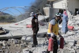 بيان حول استهداف قوات النظام وروسيا لمركز الدفاع المدني السوري في بلدة قسطون غربي حماة