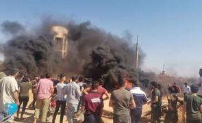 مظاهرات قرب النقاط التركية بإدلب احتجاجاً على مجازر النظام