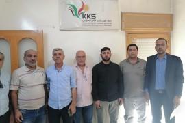 مكتب علاقات الجبهة السورية للتحرير أثناء  زيارته إلى  مكتب الرابطة في عفرين يعرض التعاون والتنسيق .