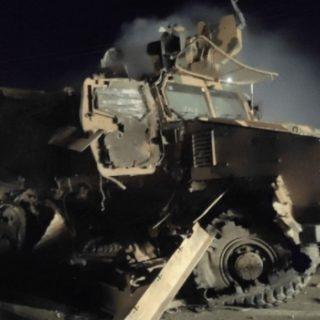 انفجار يستهدف رتلا للجيش التركي في معرة مصرين بريف إدلب.