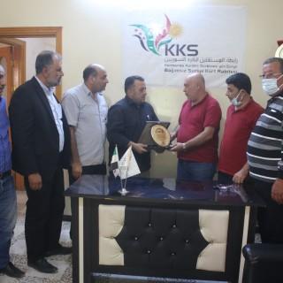 مكتب رابطة المستقلين الكرد السوريين في عفرين يستقبل وفداً من مكتب العلاقات العامة للجبهة السورية للتحرير .