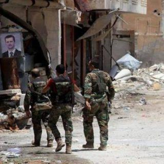 تنظيم الأسد الأرهابي يستولي على عشرات المنازل في الغوطة الشرقية .